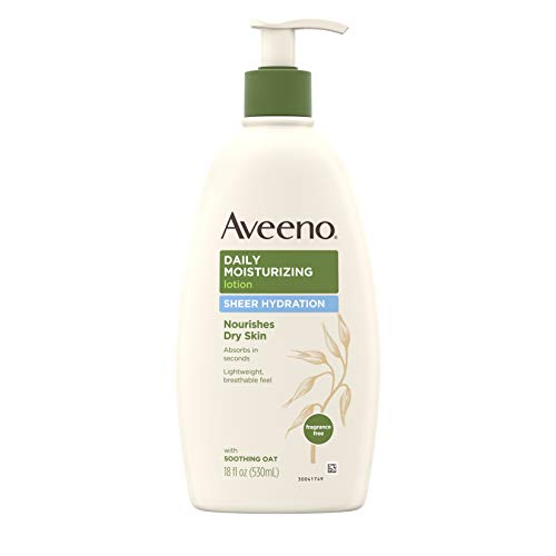 Aveeno Sheer Hydration Daily Moisturizing Lotion for Dry Skin with Soothing Oat, Lightweight,...