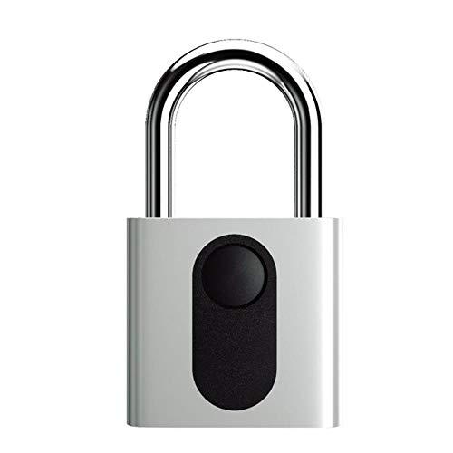 Slim elektronisch slot Vingerafdruk Deurslot IP65 voor kast/rugzak/vracht/fiets/bagage nieuw, zilver