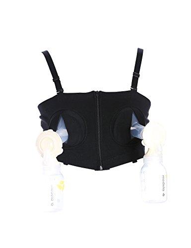 Legou Femme Vêtement de maternité Débardeur d'aspiration allaiter Noir M