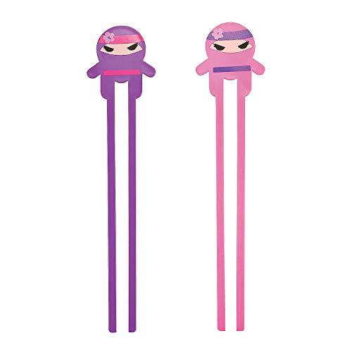 Fun Express Ninja Girl Chopsticks - 12 Pieces