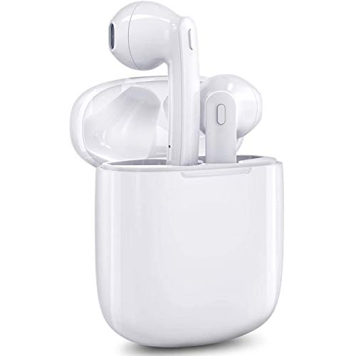 Auriculares Bluetooth, Auriculares Inalámbricos Bluetooth Mini Twins Estéreo In-Ear Bluetooth 5.0 con Caja de Carga Portátil Y Micrófono Cascos Inalámbricos Deportivos para iPhone/Android/Samsung