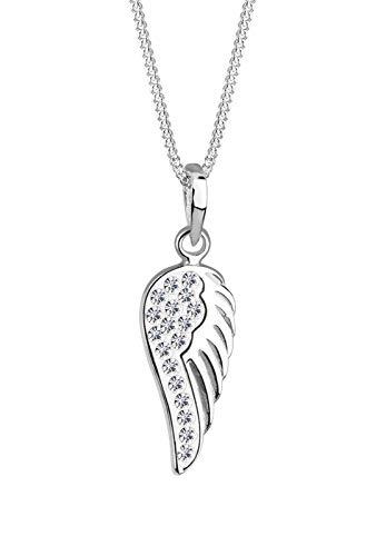 Elli Halskette Damen Flügel Engel mit Swarovski® Kristalle in 925 Sterling Silber
