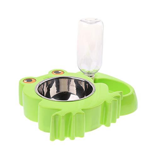Fenteer Hundenapf Hundezubehör Katze Einfach Zu Bedienen Elegant - Frosch Grün