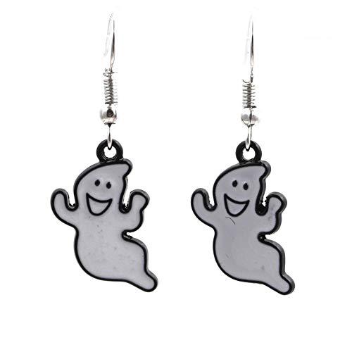 European and American Halloween Earrings Holiday Accessories Halloween Earrings Female Ghost Earrings Jewelry-White Ghost