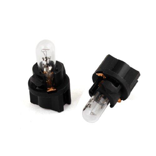 sourcingmap 2 Pcs T5 LED Ampoule Jaune Lentille Voiture Intérieur Tableau de Bord