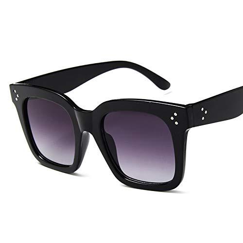 Gafas de Sol Sunglasses Gafas De Sol Clásicas De Ojo De Gato para Mujer, Gafas De Sol Graduadas De Gran Tamaño Vintage, Gafas De Sol Femeninas De Lujo Uv400 Femme C3Black