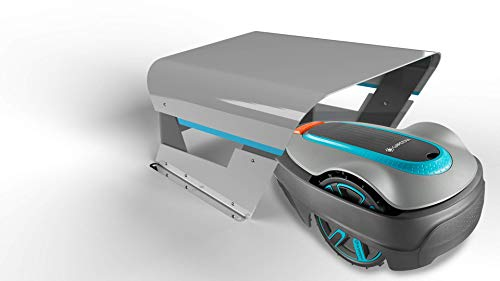 Gardena Garage für Mähroboter Idea Mower : Garage für Rasenmäher, optimaler Sonnen- und Regenschutz für Rasenroboter und Ladestation