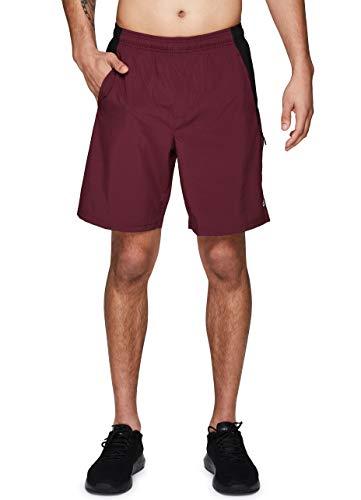RBX Active Herren Basketball-Shorts mit Taschen, 22,9 cm Schrittlänge - Rot - Klein
