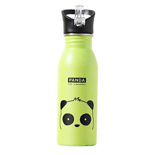 LAVALINK Botella De Agua De Acero Inoxidable 1pc De Vacío Botellas De Agua Reutilizables con Aislamiento De Fugas Botella a Prueba De Deportes para Niños Verde
