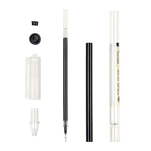 Gel Ink Pen Japanese Style Pens 0.35mm Ballpoint Maker Pen School Office student Exam Writing Stationery Supply Technical Pens 12 Pcs (4 pc Black,4 pc Blue, 4 pc Red)