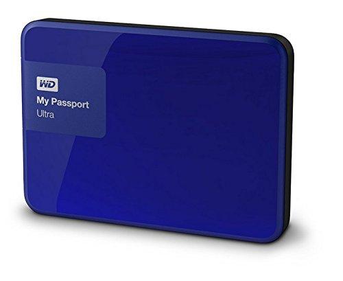 Western Digital My Passport Ultra 1 TB Externe Festplatte (bis zu 5 Gb/s, USB 3.0) königsblau