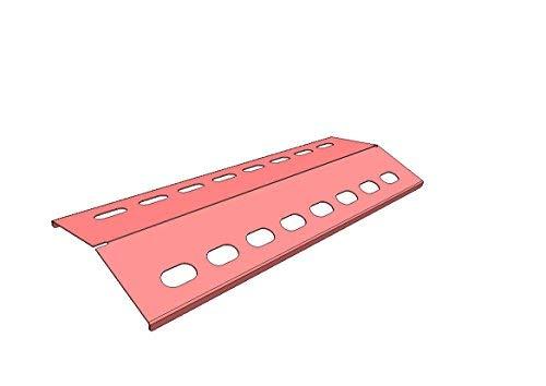 Flammenverteiler Edelstahl-Manufaktur Ersatz-Set: (385mm x 125mm - 3 Stück) Flammenblech/Grillblech/Brennerabdeckung/Flammenabdeckung für Gasgrill