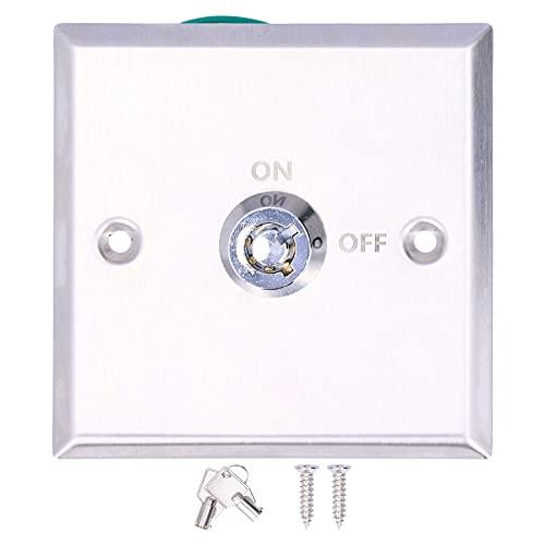 Interruptor de llave del panel, interruptor de llave de puerta de apariencia atractiva con el dibujo para puerta de garaje u otra salida de emergencia