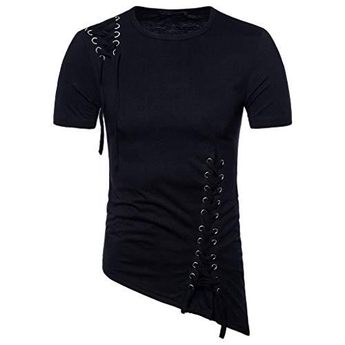 FRAUIT Magliette Uomo Estive Particolari T Shirt Uomini Divertenti Cotone Maglietta Ragazzo Manica Corta Camicie Estive Camicia Slim Fit Elegante Maglia Cotone Maglie Tinta Unita