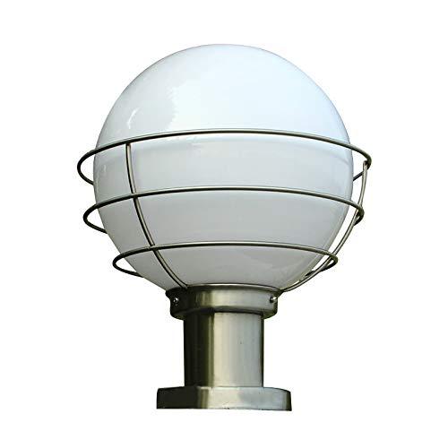 Huachaoxiang Creative Post Light, wasserdichte Außensäule Lampe Acryl Kugel Laterne Edelstahl Säule Licht Terrasse Park Zaun Landschaft Straßenlaterne Beleuchtung,1
