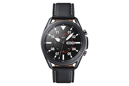 Samsung Galaxy Watch3, runde Bluetooth Smartwatch für Android, drehbare Lünette, 4G, Fitnessuhr, Fitness-Tracker, großes Display, 45 mm, schwarz, inkl. 36 Monate Herstellergarantie [Exkl. bei Amazon]