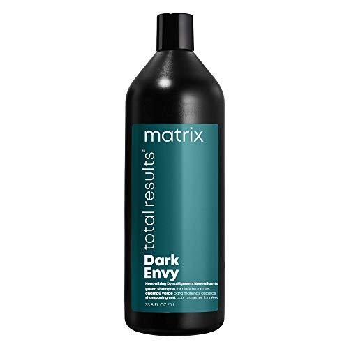MATRIX Total Results Dark Envy Color-Depositing Green Shampoo | For Neutralizing Red Undertones in Dark Brown or Black Hair | Cool, Glossy Finish | 33.8 Fl. Oz.