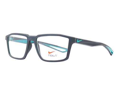 Nike Brille (4278 074) Acetate-Kautschuk matt grau - türkis
