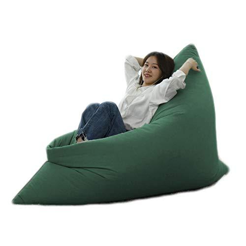 LDIW Indoor Sitzsack Bezug ohne Füllung, Hülle für Riesensitzsack Große Sitzsack Sitzkissen Abdeckung ideal für Jugendliche und Erwachsene,Dark Green,120 * 160cm