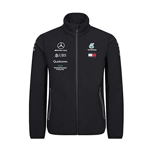Official Formula 1 Merchandise | Männer | Offizielle Mercedes-AMG Petronas Motorsport 2019 F1™ | Team Softshell Jacke | Schwarz | Polyester | Größe: XS