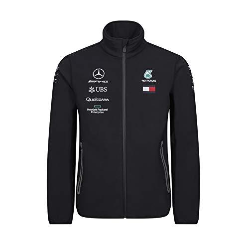 Mercedes-AMG Petronas Motorsport 2019 F1TM Chaqueta del Equipo Negra Hombre (XS)