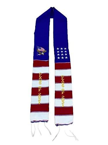 Clase de graduación de 2021 Sash prenda túnica accesorio mexicano sarape Faja 1 pc USA águila y bandera