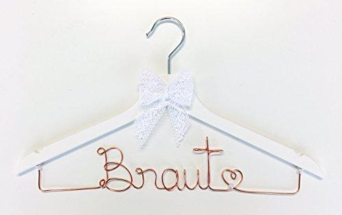 Kleiderbügel Braut KUPFER für Hochzeit - individuell gestaltbar