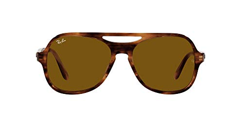 Ray-Ban 0RB4357 Gafas, Striped Havana, 58 Unisex Adulto