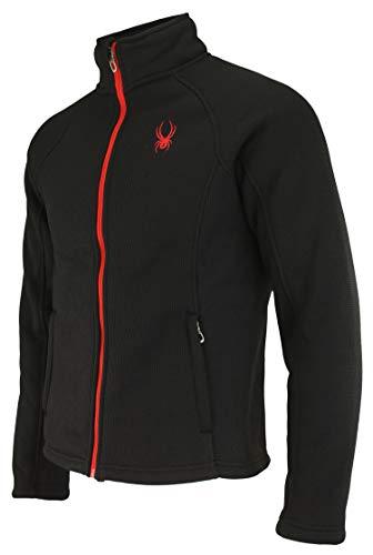 Spyder Men's Steller Full Zip Jacket, Black (F19) Medium