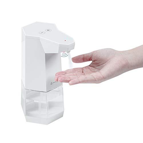 esonmus Dispensador de Jabón Automático Tipo de Spray Dispensador Jabón Sin Contacto 360ml Base Antideslizante Ajuste de 2 Etapas IPX4 Impermeable para Baño Cocina