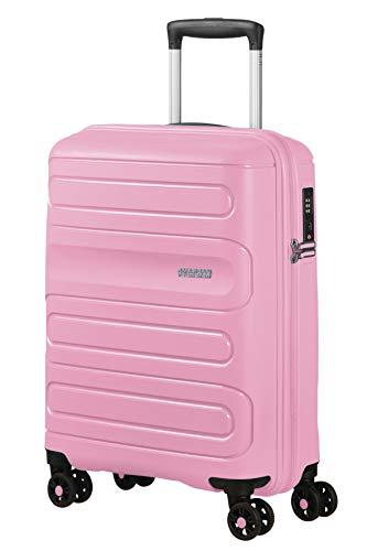 American Tourister Sunside - Spinner S Bagaglio a Mano, 55 cm, 35 L, Rosa (Pink Gelato)