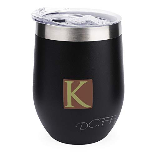 Vaso de vino aislado de 12 onzas, taza de viaje de acero inoxidable con tapa