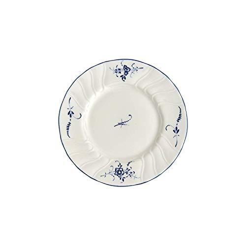 Villeroy & Boch Vieux Luxembourg Assiette à pain, 16 cm, Porcelaine Premium, Blanc/Bleu