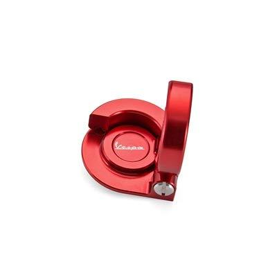 MUJUN Reserve Aluminium Helmhaken Häkeln Locks Teile for Piaggio-Roller Zubehör for Vespa GTS 300 GTV (Color : Red)