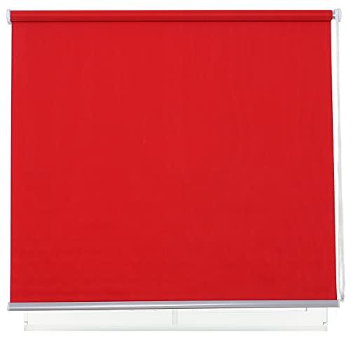 DALINA Estor Enrollable para Ventana Translúcido Liso de Poliéster (Rojo,105x180cm)