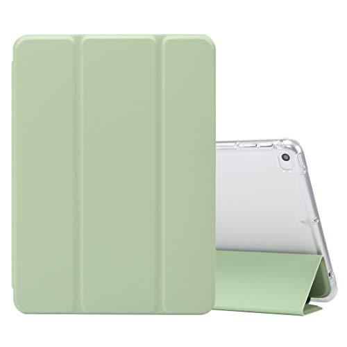 Tablet PC Case For iPhone 11 Pro Max PC + TPU ultra-delgado de doble cara con todo incluido transparente CaseFor mini iPad (2019) / Mini 4 3-plegable eléctrica de la piel prensada Textura horizontal d