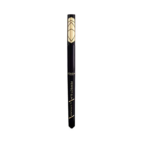 L Oréal Paris, Delineador Líquido Super Liner Perfect Slim, Negro Intenso y preciso, Resistente al Agua, 01 Intense Black