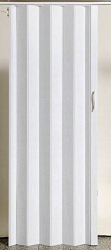 Falttür Schiebetür Tür Kunststofftür weiss gewischt farben Höhe 203 cm Einbaubreite bis 82 cm Doppelwandprofil Neu