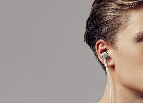 TCL MTRO100 In-Ear Kopfhörer mit Mikrofon (verwicklungsfreies Flachkabel, Fernbedienung und Mikrofon zur Steuerung von Musik und Anrufen), Ash White