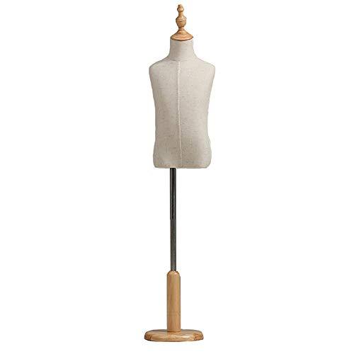 SSZY Niño Maniqui Costura Modista Busto Forma de Vestido Pinnable de Medio Cuerpo para Niños/Niños, Edad 2-3/4-5/6-8 Años Maniquí de Costura para Niños Pequeños/Niños/Niñas, Altura Ajustable