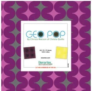 Geo Pop Layer Cake 10 Inch Quilting Christa Squares 42 Watson by High 5 ☆ popular order