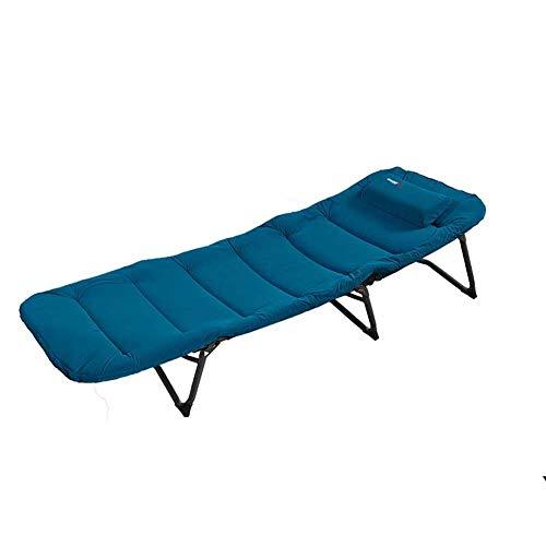 XJYA Klappbett Gästebett mit Aluminiumrohr Gitterbasis - 250 lbs max Gewicht Kapazität,Extra Dicke Matratze Wildlederbezug,Gast Versteck,Verstellbare Rückenlehne Mit Kissen