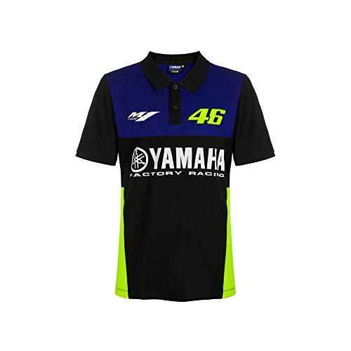 VALENTINO ROSSI Yamaha Dual Racing T-Shirt à Manches Courtes pour Homme, Homme, Polo à Manches Courtes, YDMPO362109007, Bleu (Royal Blue), XXXL