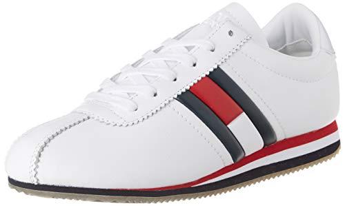 Tommy Hilfiger Wmns Retro Flag Sneaker, Zapatillas para Mujer, Rojo (RWB 020), 38 EU