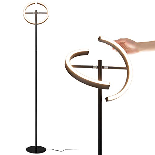 COSTWAY LED Stehlampe Deckenfluter Standleuchte Stehleuchte Metalllampe stufenlos dimmbar 30W / 3000K Warmweiß / 2950 Lumen/für Wohnzimmer, Schlafzimmer, Büro, Café