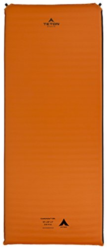 TETON Sports XXL Sleeping Pad; Sleeping Mat for Camping, Backpacking, Hiking, Orange, 78x30x2.5 inches / XXL (1043A)