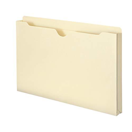 "Smead File Jacket, Reinforced Straight-Cut Tab, 1"" Expansion, Legal Size, Manila, 50 per Box (76520)"