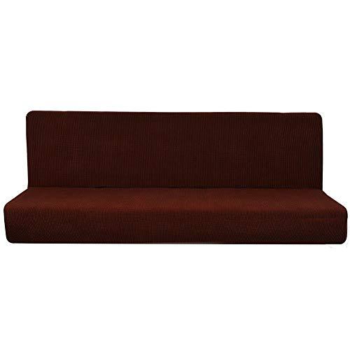 Lubier 1 funda de sofá de tela elástica de forro polar elástico para sofá de color puro, protector de sofá suave y elástico