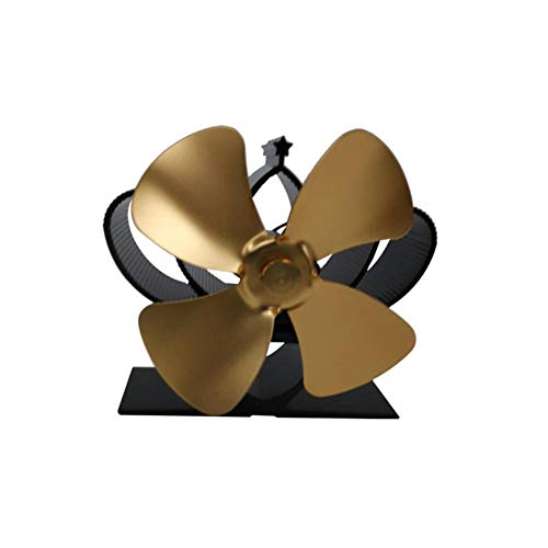 Cuttey Ventilator für Holzofen oder Kamin, Holzofen-Ventilator, Heizungsventilator Mini-Ventilator-Heizung Thermodynamischer Ventilator Kamin-Ventilator-Heizung
