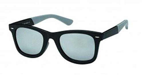 Chique spiegelende zonnebril Nerd-Net Strijken honingraat kleurrijke unisex bril getint UV 400 Wayfarer grijs